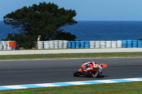 Román Ramos durante los entrenamientos libres del Gran Premio de Australia