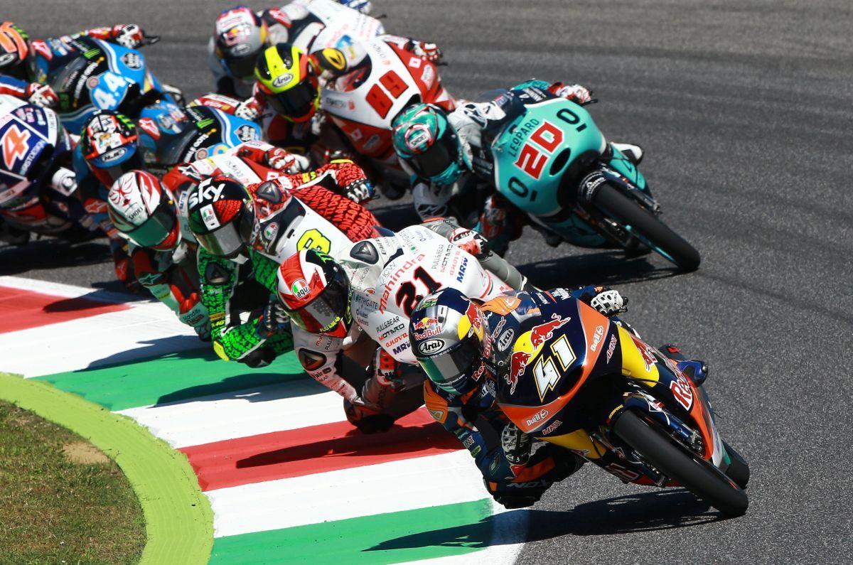 Brad Binder durante el Gran Premio de Italia en Mugello