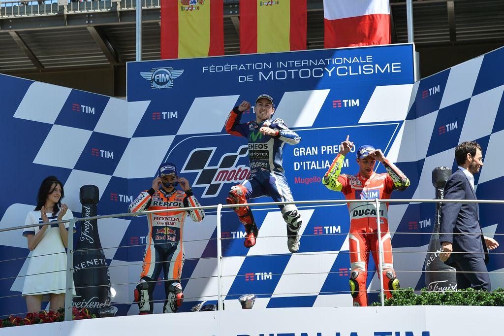 Podium del Gran Premio de Italia de MotoGp
