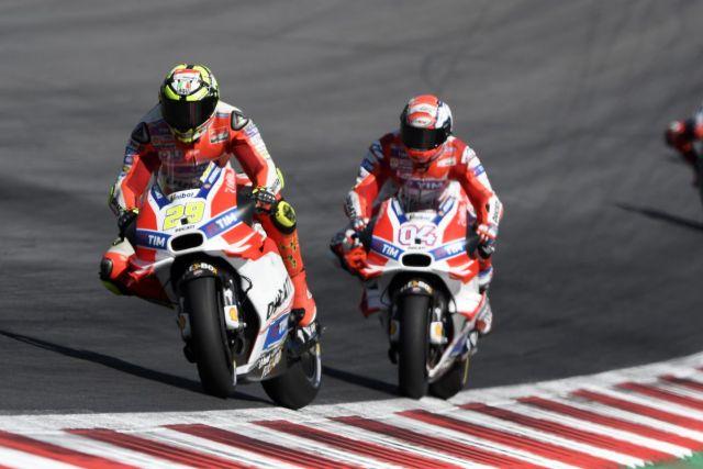 Iannone y Dovizioso - Foto: © Ducati Press