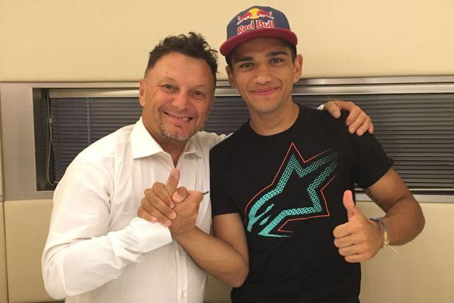 Jorge Martín junto a Fausto Gresini