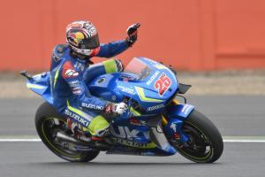 Maverick Viñales durante el Gran Premio de Gran Bretaña de MotoGp