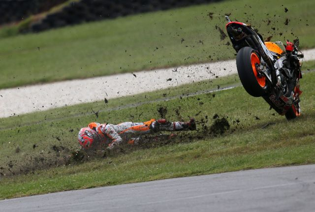 Caída de Marc Márquez en el Gran Premio de Australia de MotoGp