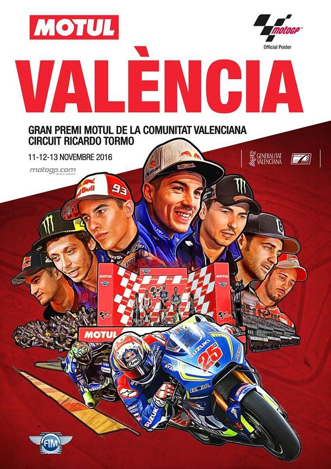 Cartel Promocional del Gran Premio de la Comunitat Valenciana de MotoGp