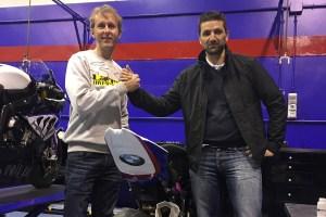 Carmelo Morales junto a Eduardo Salvador, en su presentación con el easyRace SBK Team