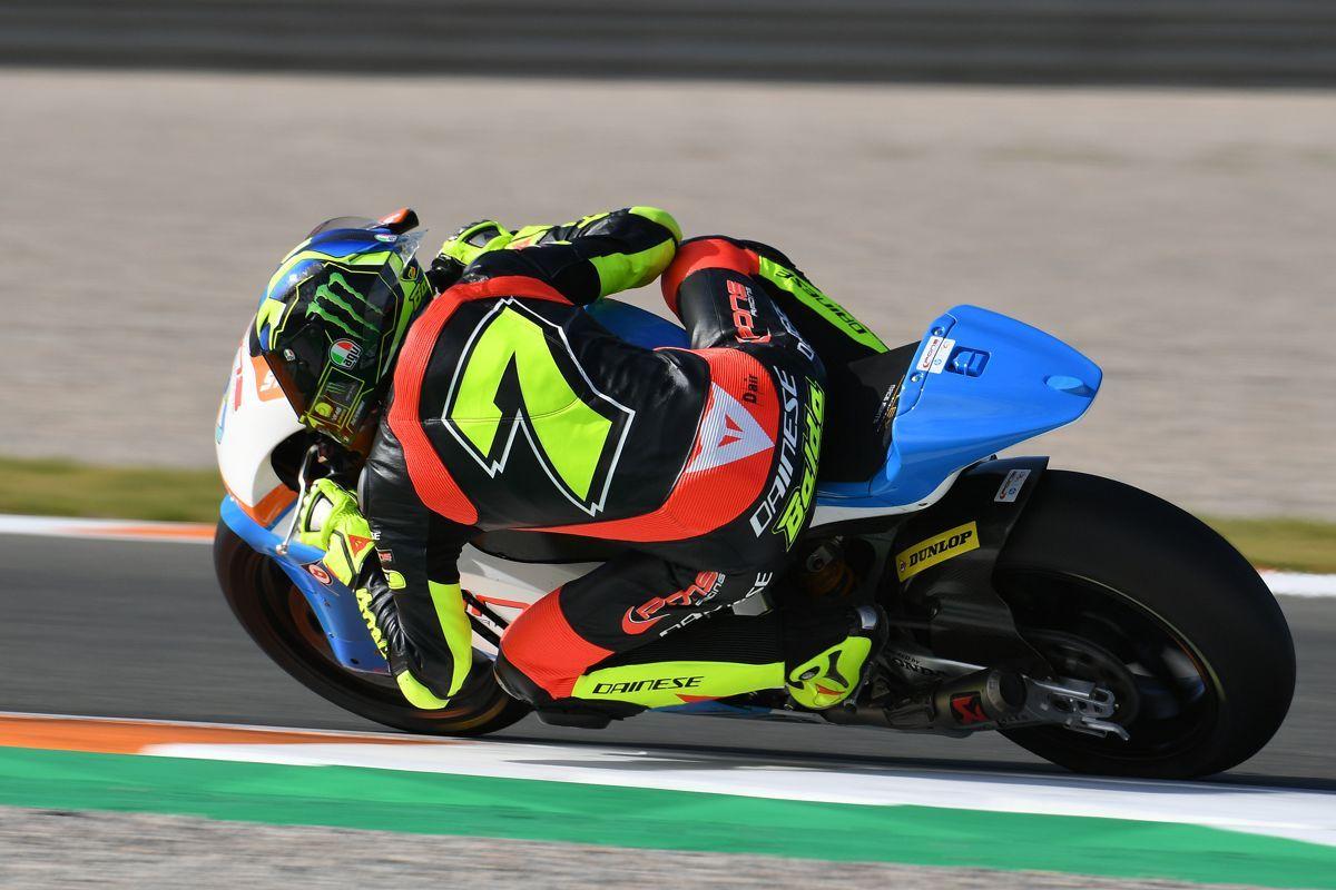 Lorenzo Baldasarri durante la segunda jornada de test de Moto2 en Valencia