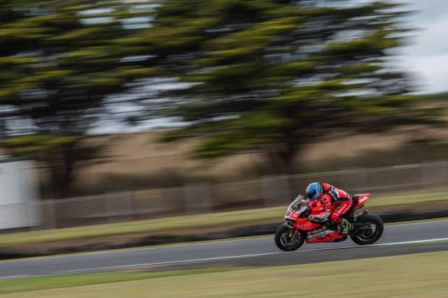 Marco Melandri durante los test del Campeonato del Mundo de Superbike en Phillip Island