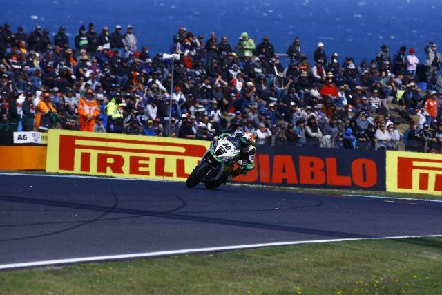Román Ramos durante las carreras del Mundial de Superbike en Phillip Island