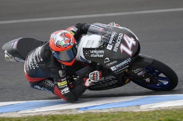 Tony Arbolino durante los test de Moto3 en el Circuito de Jerez