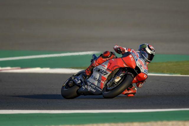Jorge Lorenzo durante los test de MotoGp en Qatar