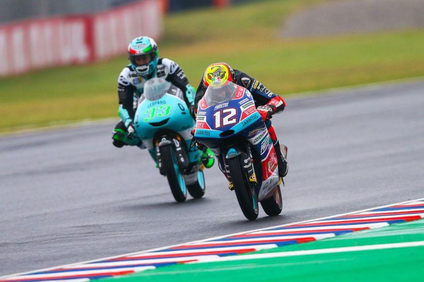 Marco Bezzechi durante el Gran Premio de Argentina de Moto3