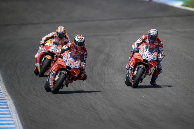 Jorge Lorenzo, Andrea Dovizioso y Dani Pedrosa