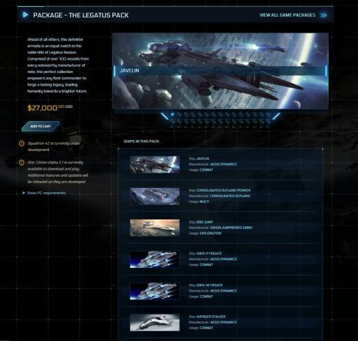 Star-Citizen-The-Legatus-Pack-27000-USD