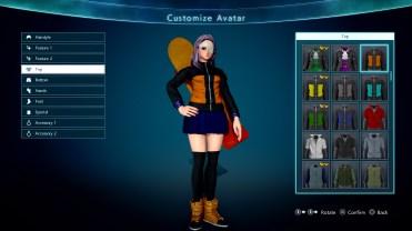 Jump Force Avatar Customization Screen 1