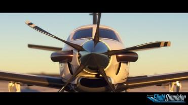Microsoft Flight Simulator Rotor Screenshot with logo