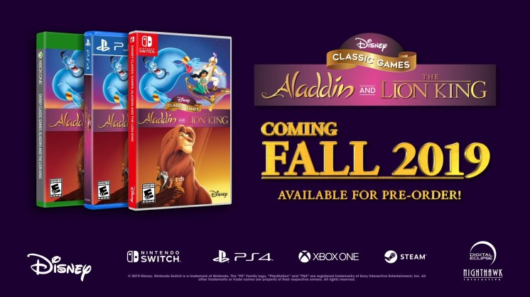 Disney Classic Games Aladdin and The Lion King Banner