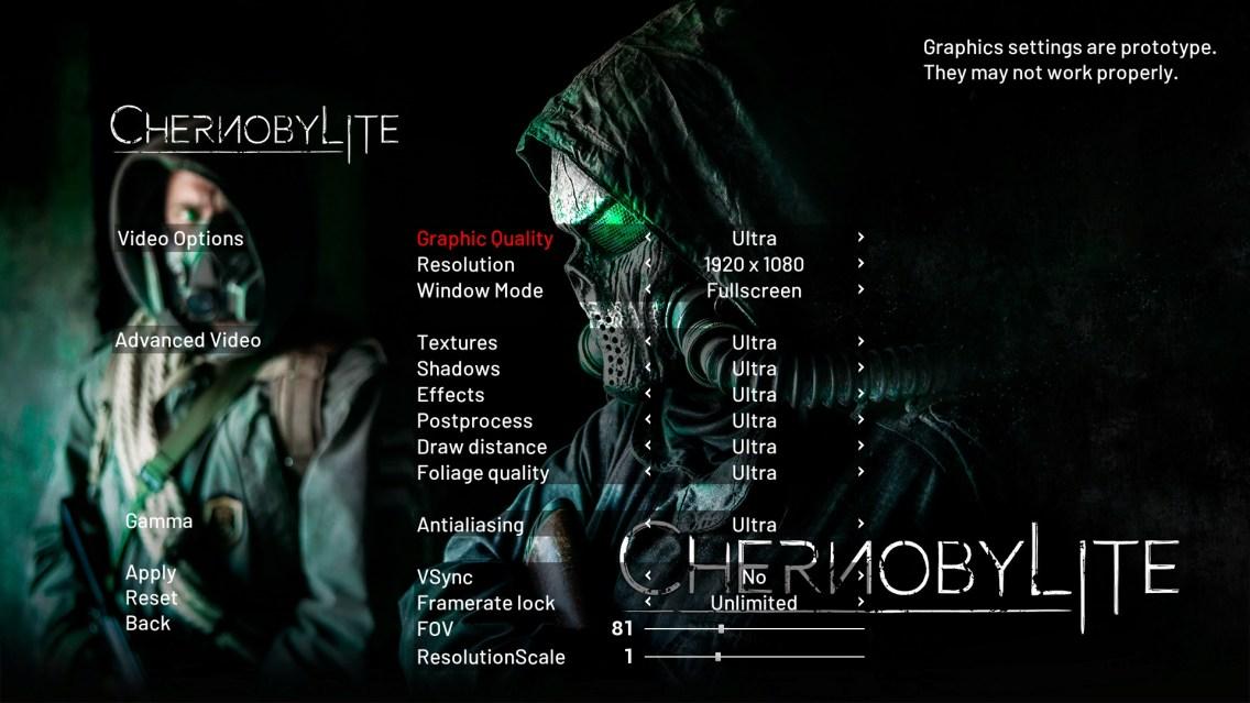 chernobylite settings