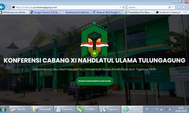 Panitia Konfercab XI NU Tulungagung Terapkan Pendaftaran Peserta dengan Online