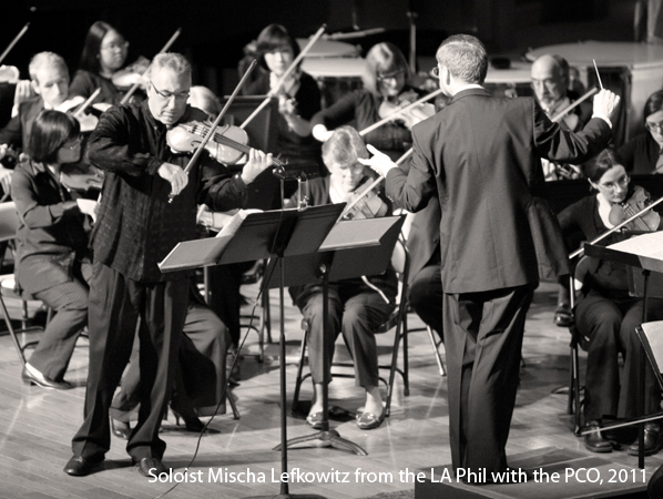 Mischa Lefkowitz of the LA Phil performing with the PCO, 2011