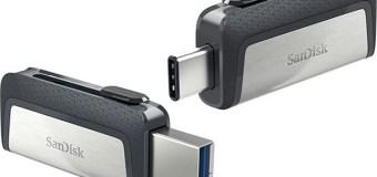 Konektor USB-A dan USB-C ada di SanDisk Ultra Dual Drive