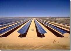 Parbolrinnenkraftwerk Mojave / Parabolic trough power plant Mojave