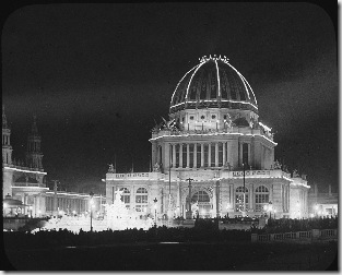1893 World%s Columbian Expo lit by Tesla, Chicago, USA