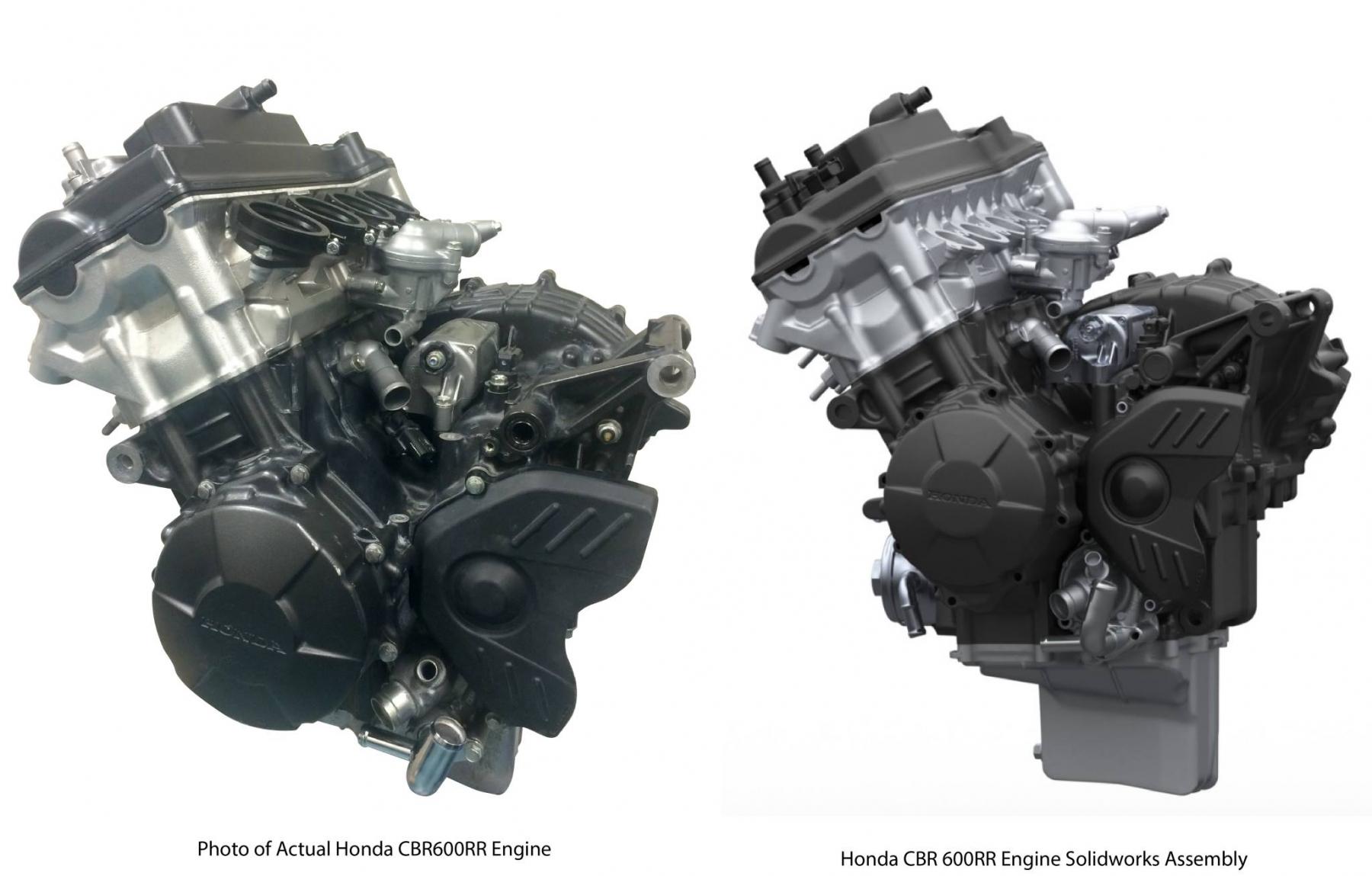 Bolton WorksSolid Works Assembly 2009 Honda CBR600RR Engine (3)