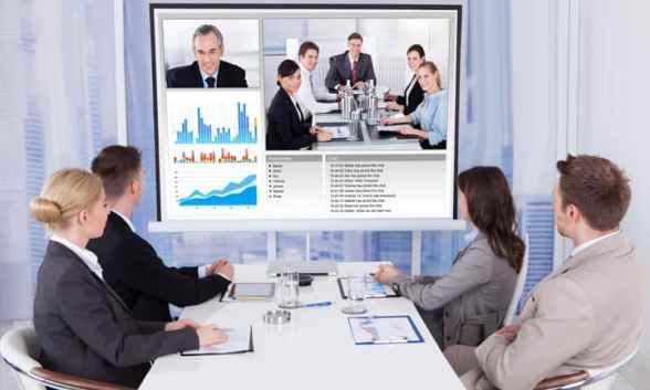 meeting using Jamboard