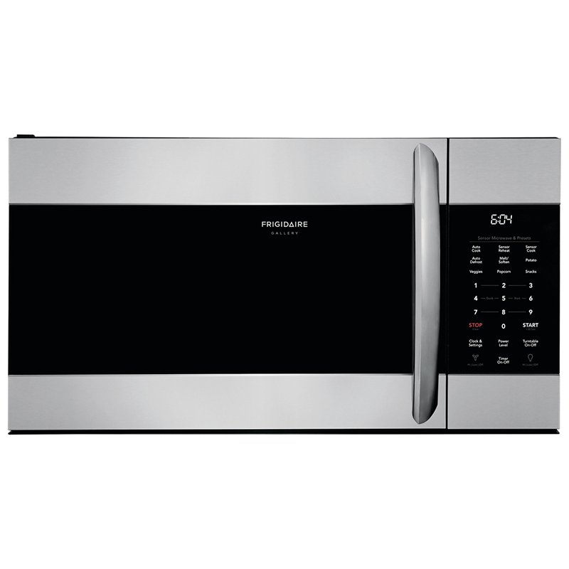 frigidaire gallery series 30 1 7 cu ft over the range microwave with 9 power levels 300 cfm fan sensor cooking control stainless steel