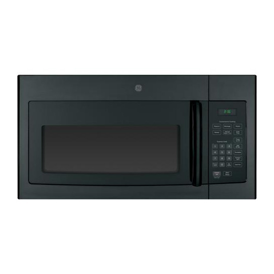 ge 30 1 6 cu ft over the range microwave with 10 power levels 300 cfm fan sensor cooking control black