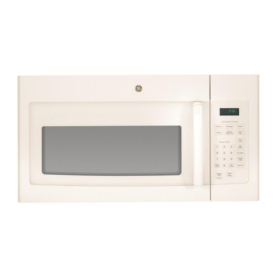ge 30 1 6 cu ft over the range microwave with 10 power levels 300 cfm fan sensor cooking control bisque