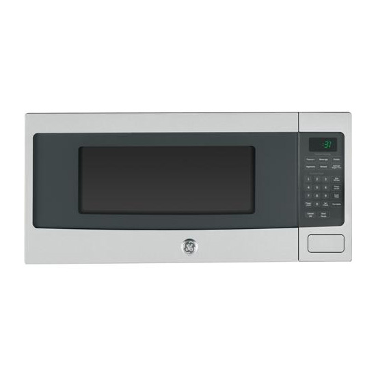 ge profile 24 1 1 cu ft countertop microwave with 10 power levels sensor cooking control stainless steel