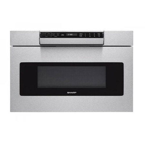 sharp 24 1 2 cu ft drawer microwave with 11 power levels sensor cooking control stainless steel