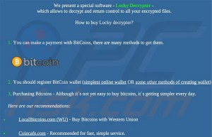Website selling Locky decryptor