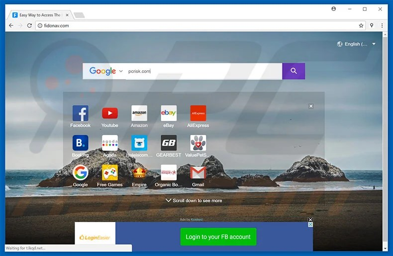 fidonav.com browser hijacker