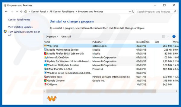 How to uninstall Win Tonic Unwanted Application - removal ...
