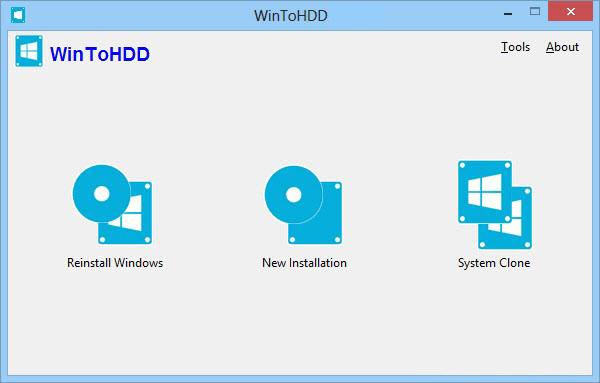 WinToHDD windows