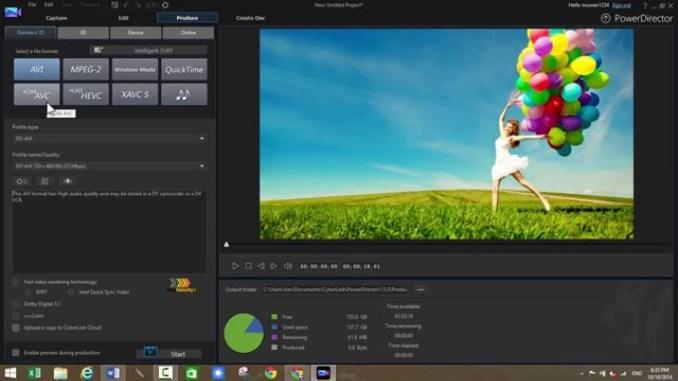 CyberLink PowerDirector windows