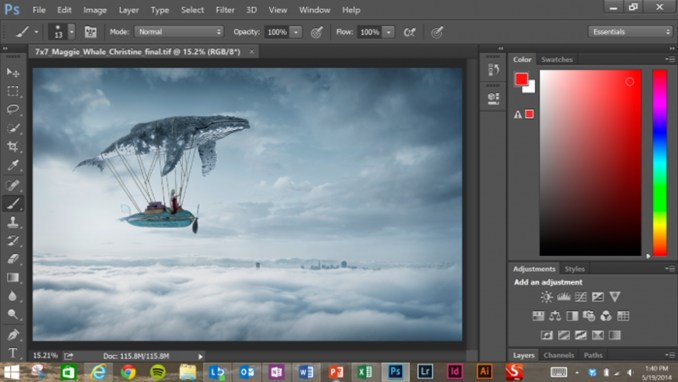 Adobe Photoshop CC windows