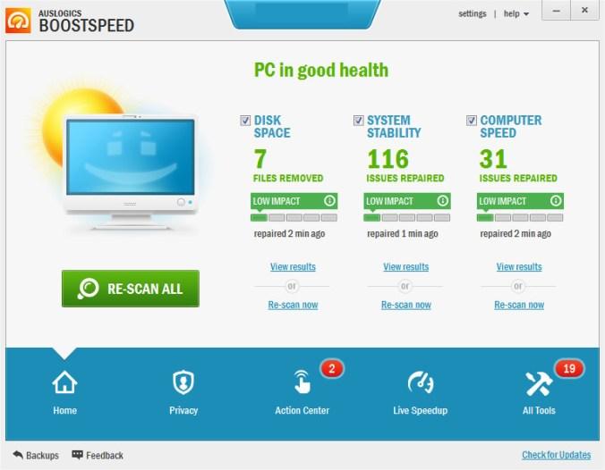 Auslogics BoostSpeed latest version