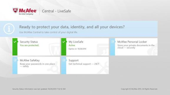 McAfee LiveSafe latest version