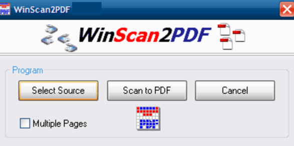 WinScan2PDF windows