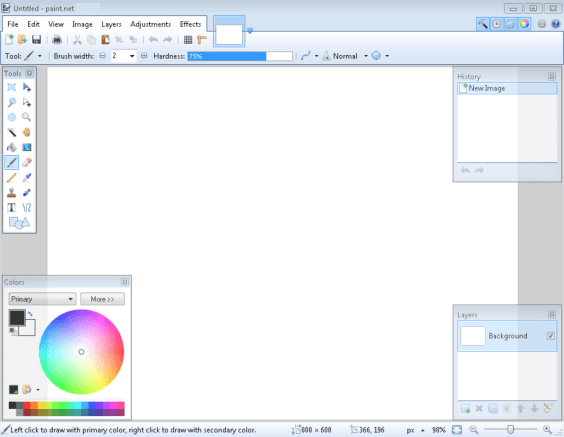 Paint.NET windows