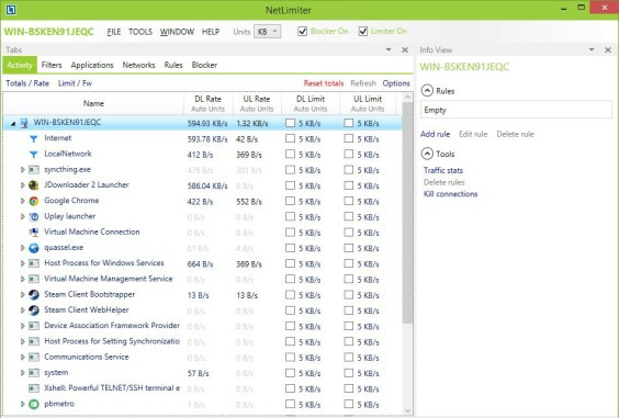 NetLimiter windows
