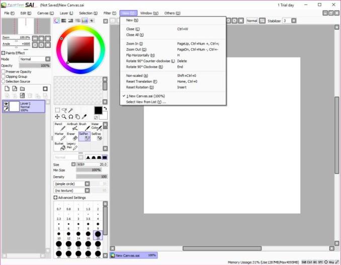 Paint Tool SAI latest version