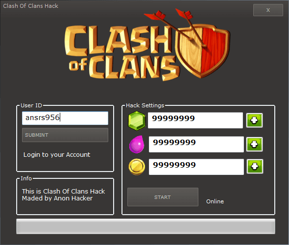 Clash of Clans Hack windows