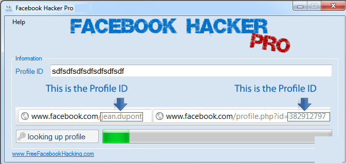 Facebook Hacker Pro windows