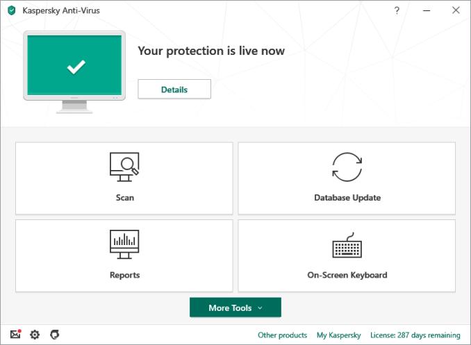 Kaspersky Antivirus windows