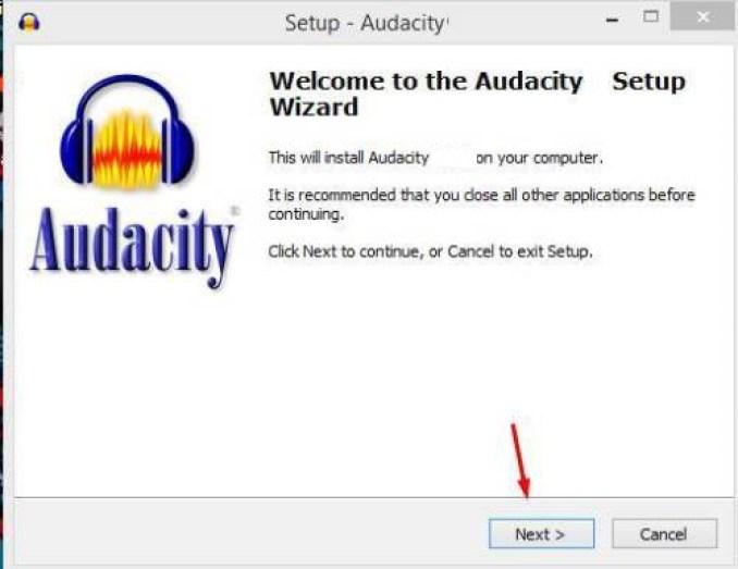 Audacity windows