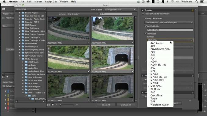 Adobe Prelude CC windows